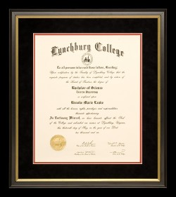 Dramatic Lyncburg College Diploma