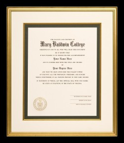 Dramatic Mary Baldwin College Diploma
