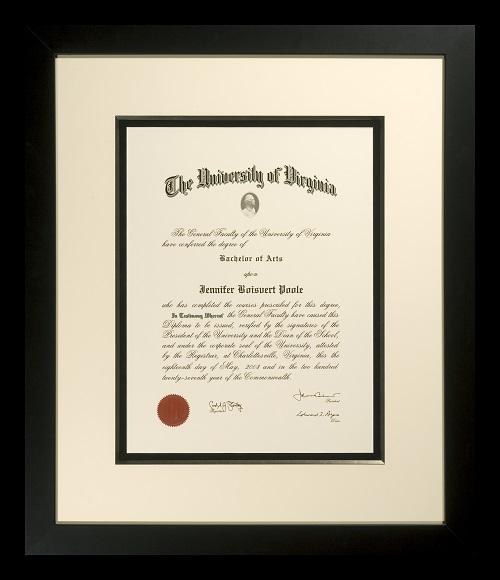 Custom Diploma Framing The Great Frame Up Charlottesville